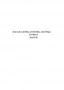 Falsafa (Etika, Estetika, Mantiq) fanidan dastur