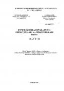 Fond bozorida banklarning operatsiyalari va strategiyalari f...
