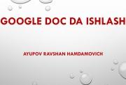 Google doc da ishlash